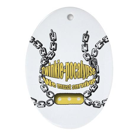 Twinkie-pocalypse 2 Ornament (Oval)