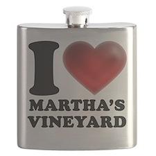 I Heart Marthas Vineyard Flask
