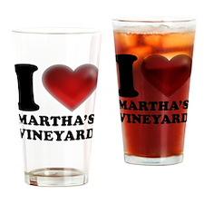 I Heart Marthas Vineyard Drinking Glass