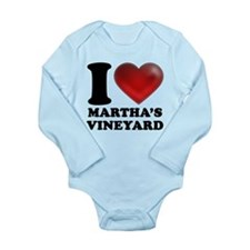 I Heart Marthas Vineyard Long Sleeve Infant Bodysu