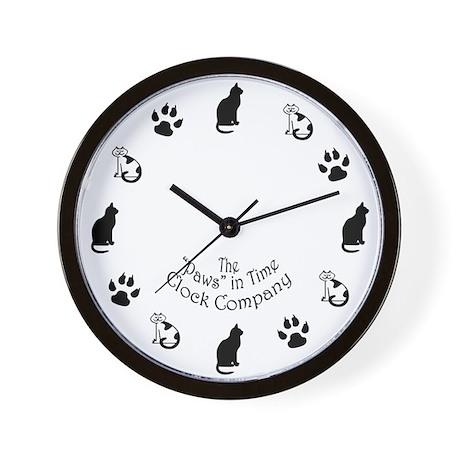 Cat clock face Wall Clock