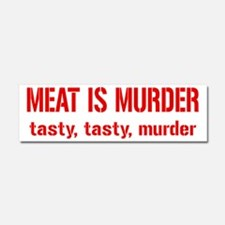 Meat Is Tasty Tasty Murder Car Magnet 10 x 3