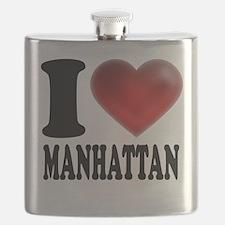I Heart Manhattan Flask