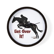 Get Over It! Horse Jumper Wall Clock