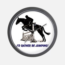 Id Rather Be Jumping Horse Wall Clock