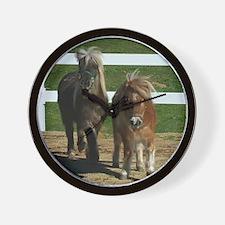 Cute Miniature Horses Wall Clock