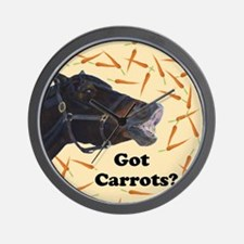 Cute Got Carrots? Horse Wall Clock