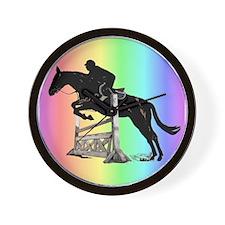 Rainbow Jumping Horse Wall Clock