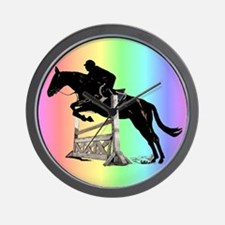 Rainbow Jumping Horse Wall Clock