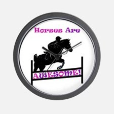 Horses Are Awesome Wall Clock