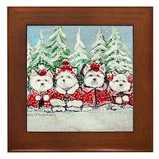 Christmas Westies II.png Framed Tile