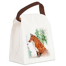 foxy.jpg Canvas Lunch Bag