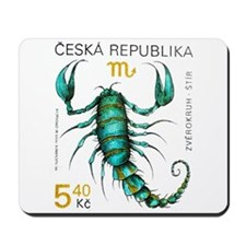 1999 Czech Republic Scorpio Postage Stamp Mousepad