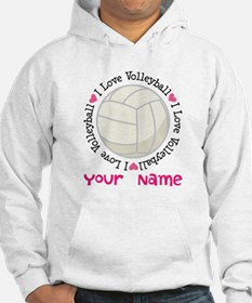 Personalized Volleyball Hoodie Sweatshirt