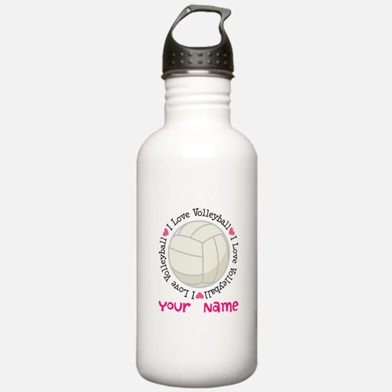 Personalized Volleyball Sports Water Bottle