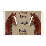 Live laugh ride 3x5 Rugs