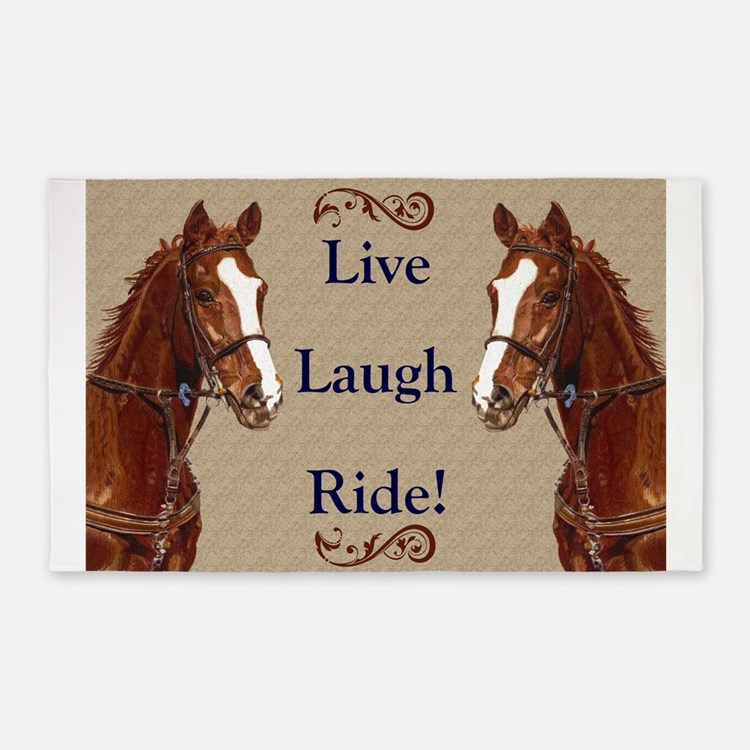 Live! Laugh! Ride! Horse 3'x5' Area Rug