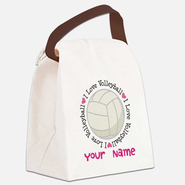 Personalized Volleyball Canvas Lunch Bag