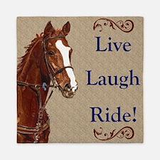 Live! Laugh! Ride! Horse Queen Duvet
