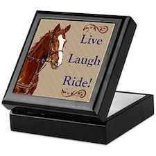 Live! Laugh! Ride! Horse Keepsake Box