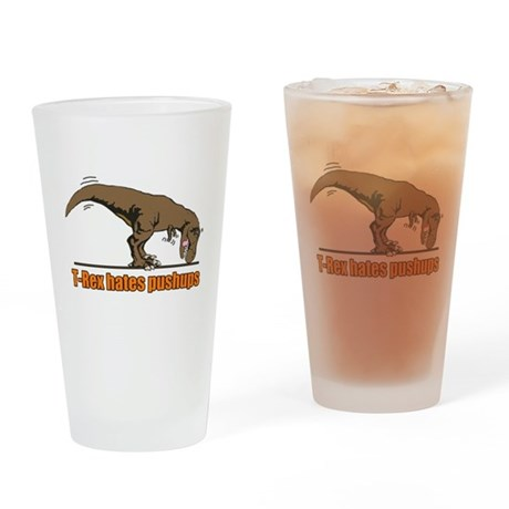 T Rex work out Drinking Glass