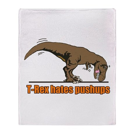 T Rex work out Throw Blanket
