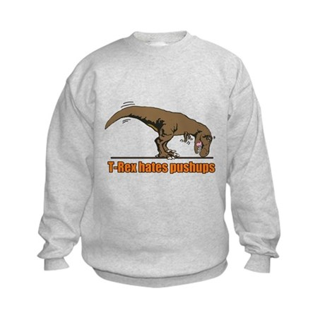 T Rex work out Kids Sweatshirt