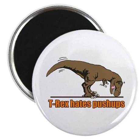 "T Rex work out 2.25"" Magnet (10 pack)"