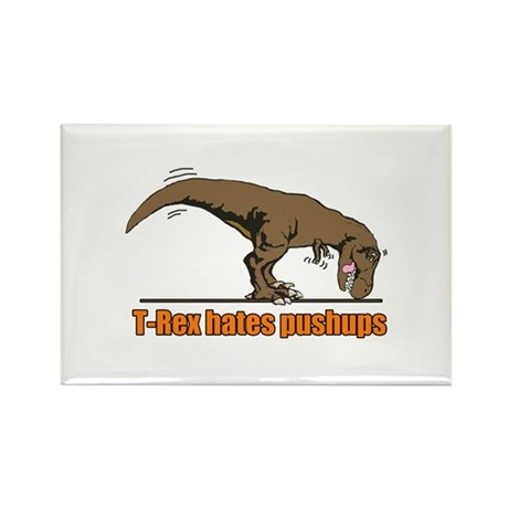 T Rex work out Rectangle Magnet