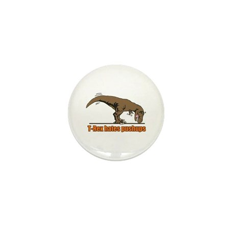 T Rex work out Mini Button
