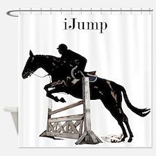 Fun iJump Equestrian Horse Shower Curtain