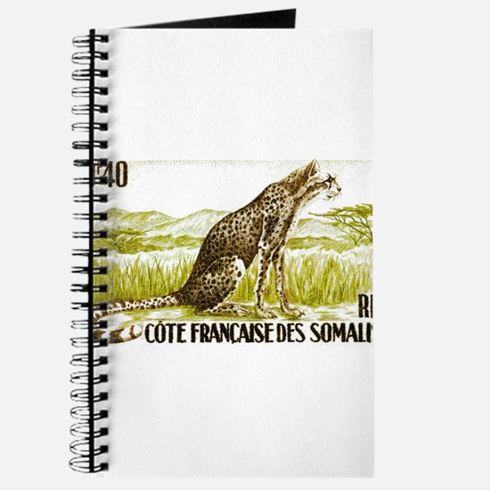 1958 Somalia Cheetah Cat Postage Stamp Journal