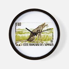 1958 Somalia Cheetah Cat Postage Stamp Wall Clock