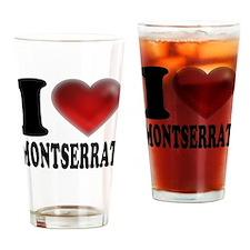 I Heart Montserrat Drinking Glass