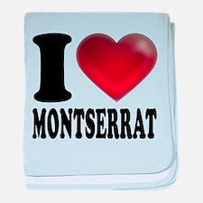 I Heart Montserrat baby blanket