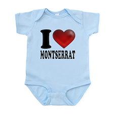 I Heart Montserrat Onesie