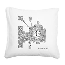 Fields Clock Square Canvas Pillow