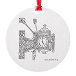 Fields Clock Round Ornament
