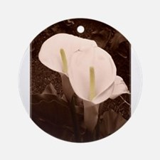 Calla Lily Pair Ornament (Round)