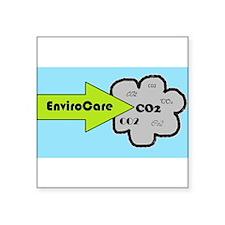 "EnviroCare Reducing CO2 Square Sticker 3"" x 3"""