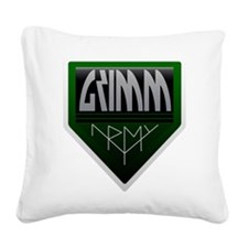 Army Square Canvas Pillow