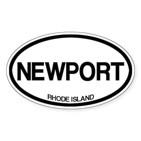 Newport, Rhode Island Sticker (Oval)