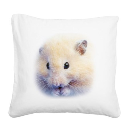 Syrian Hamster Square Canvas Pillow