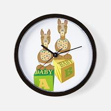 Twin Llamas for expecting Llama Lovers Wall Clock