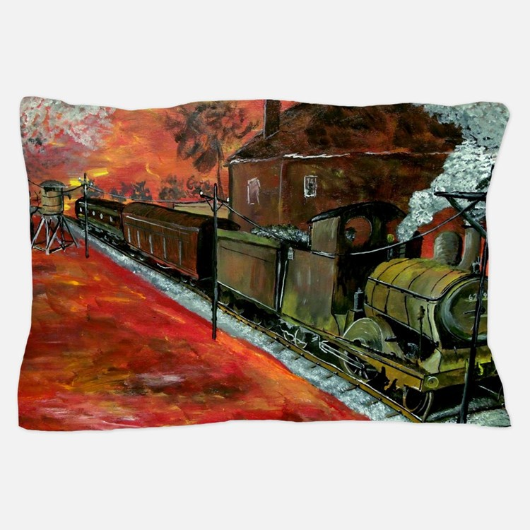 Old Train Engine Pillow Case