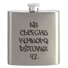 Graffiti Alphabet T Shirt Flask