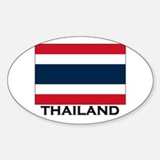 Thailand Flag Stuff Oval Decal