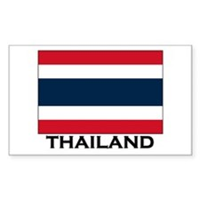 Thailand Flag Stuff Rectangle Decal