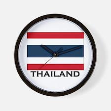 Thailand Flag Stuff Wall Clock