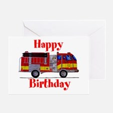 Fire Truck Birthday Card Greeting Card